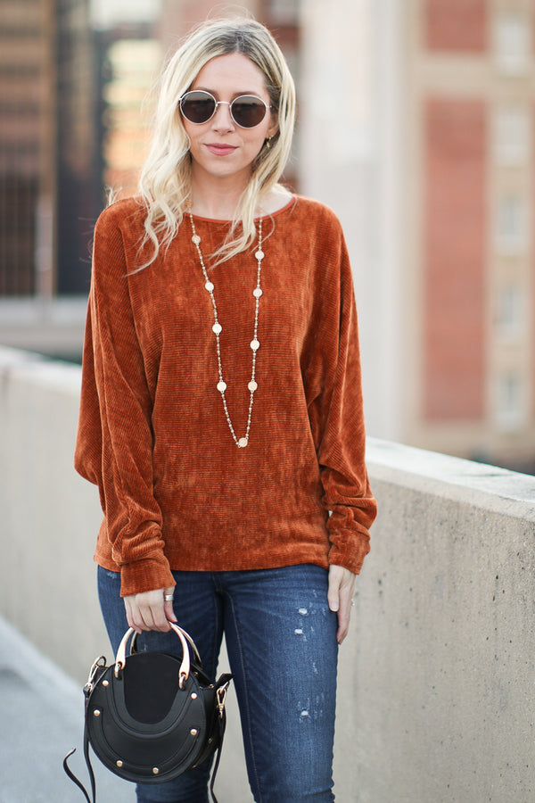 Ines Dolman Chenille Sweater - Madison + Mallory