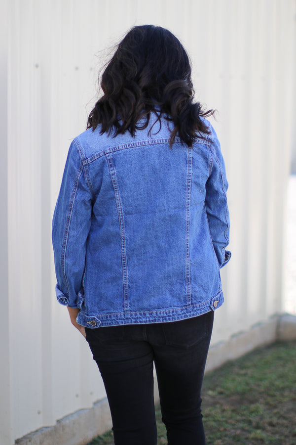 Gillian Distressed Denim Jacket - Madison + Mallory