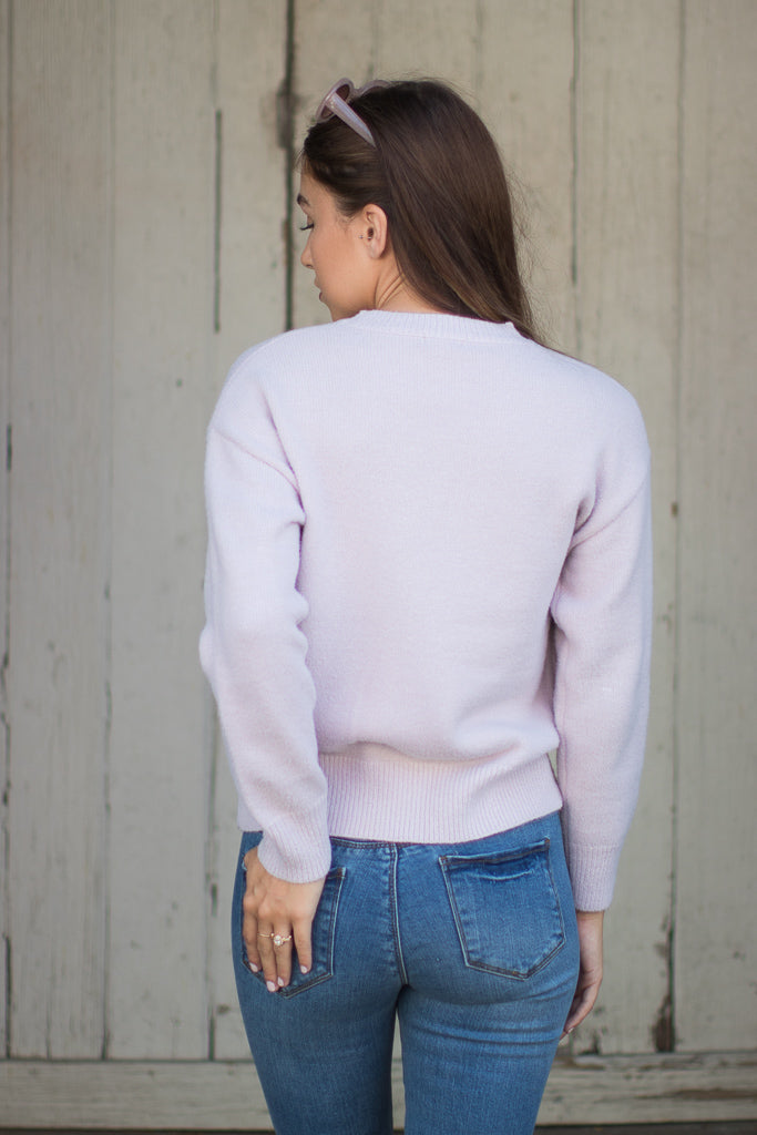 Floral Embroidered Pullover Sweater - Madison + Mallory