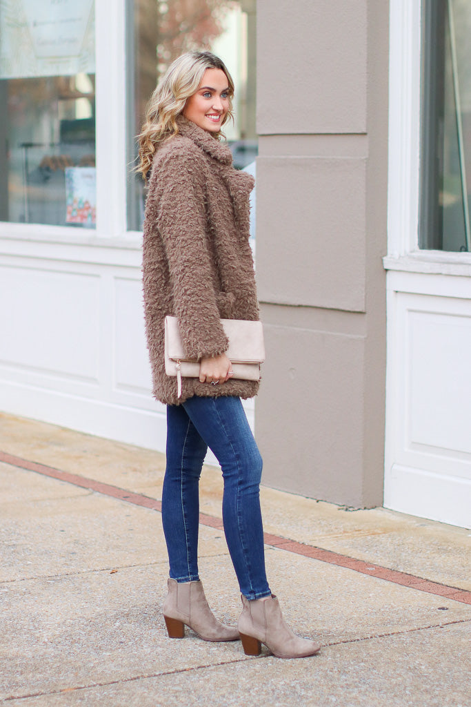 Cozy Goals Faux Fur Jacket - Madison and Mallory