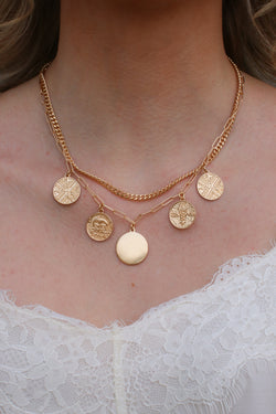 Gold Montecito Layered Coin Necklace + MORE COLORS - Madison and Mallory