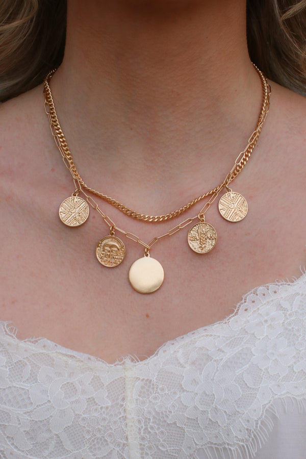 Gold Montecito Layered Coin Necklace + MORE COLORS - Madison + Mallory