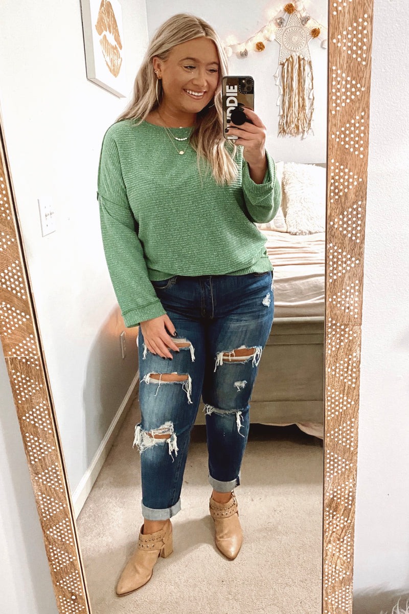 Destination Unknown Relaxed Knit Top - Madison and Mallory