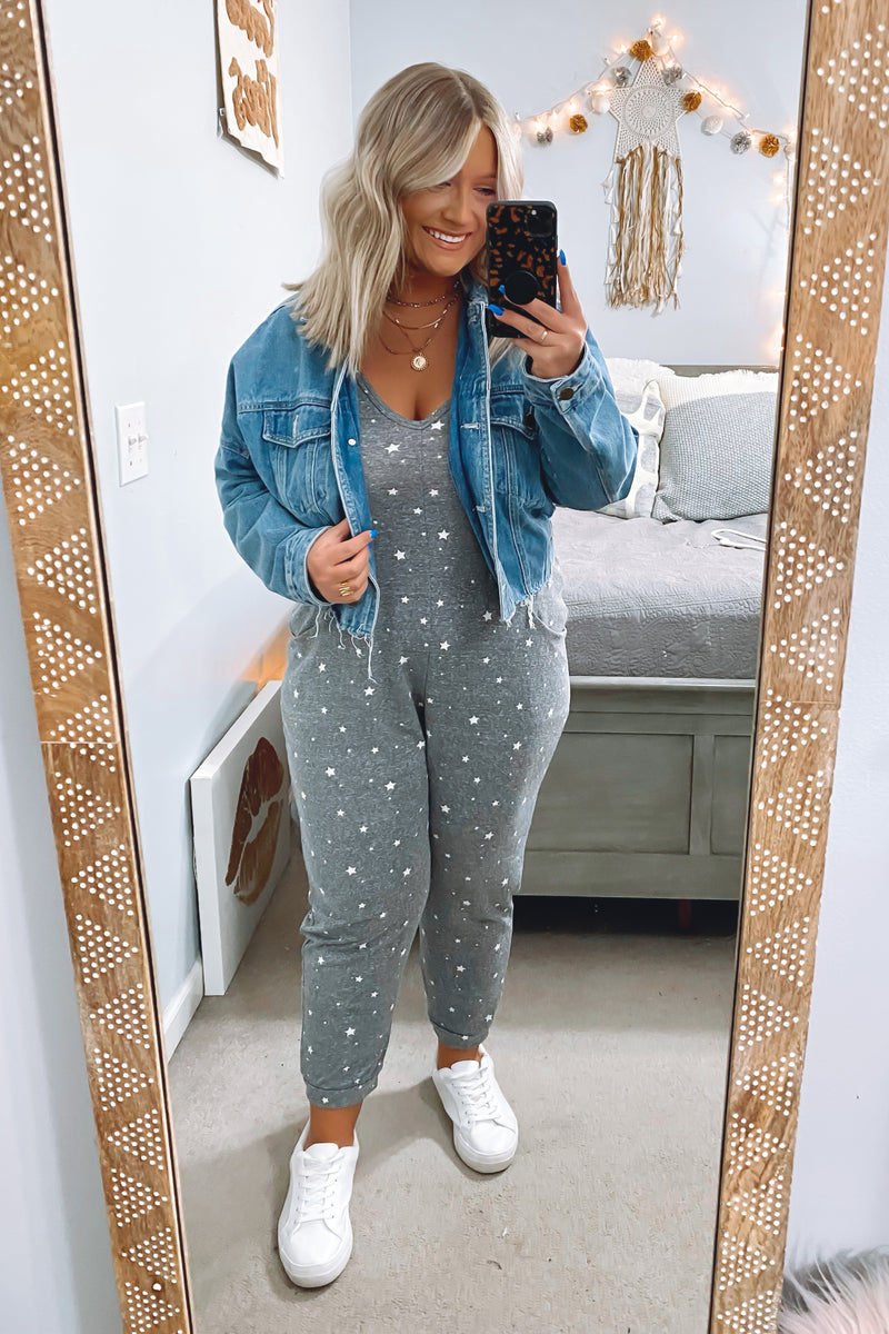 Chart Topper Star Print Jumpsuit - Madison and Mallory