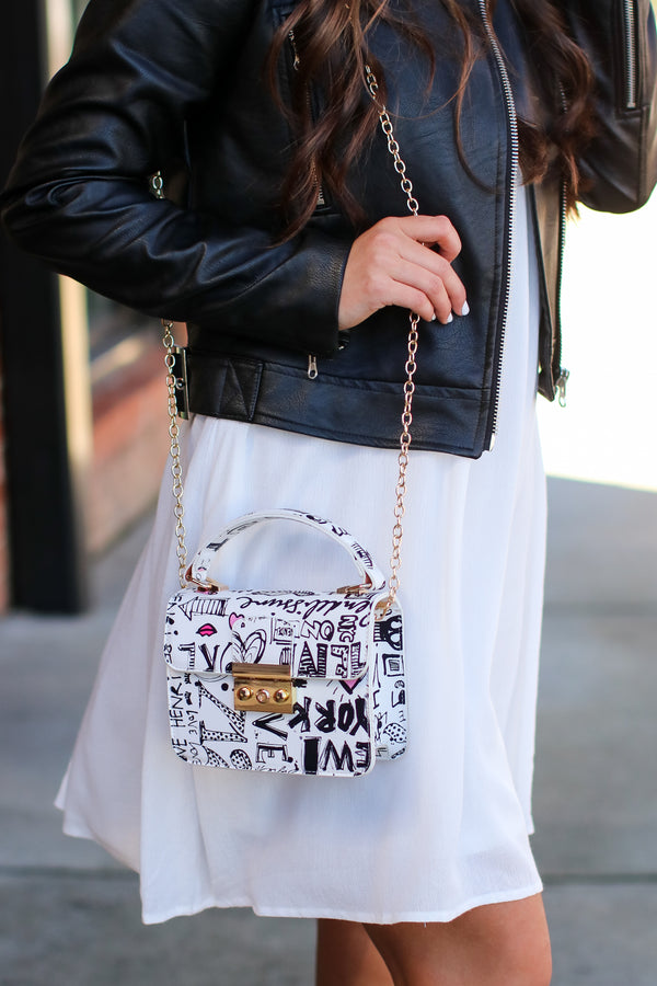 Style Guide Graffiti Crossbody Bag - Madison and Mallory