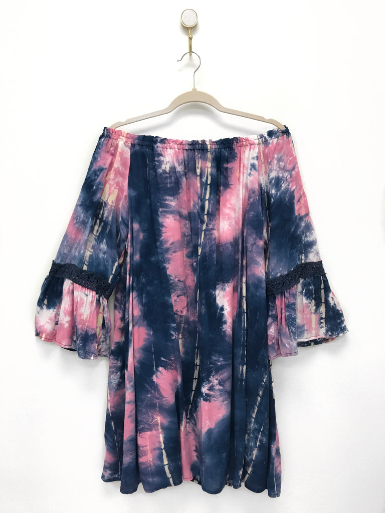 Off the Shoulder Tie Dye Dress | Curve
