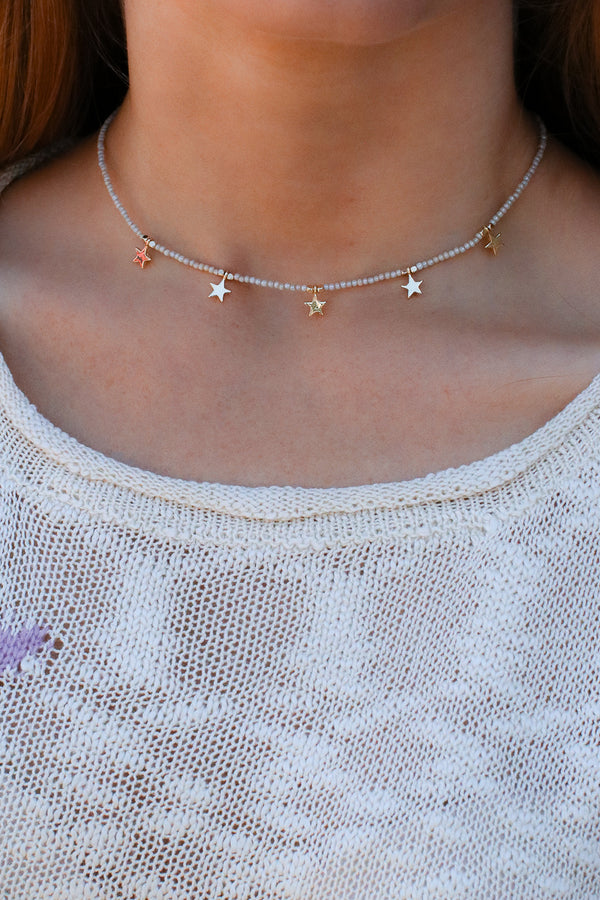 Gold Never Stop Dreaming Star Beaded Choker - Madison + Mallory