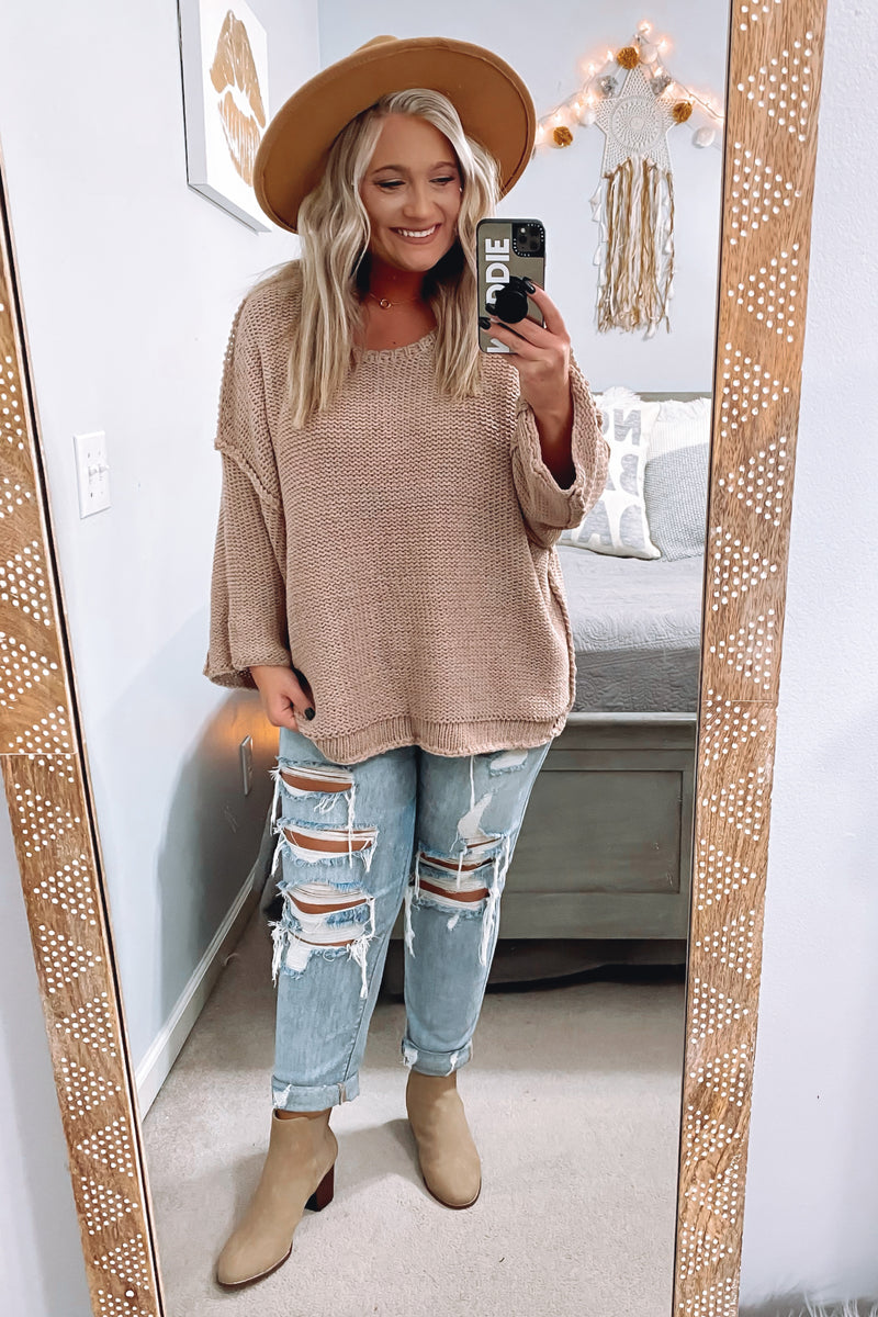 Peggy Oversized Knit Sweater - Madison and Mallory