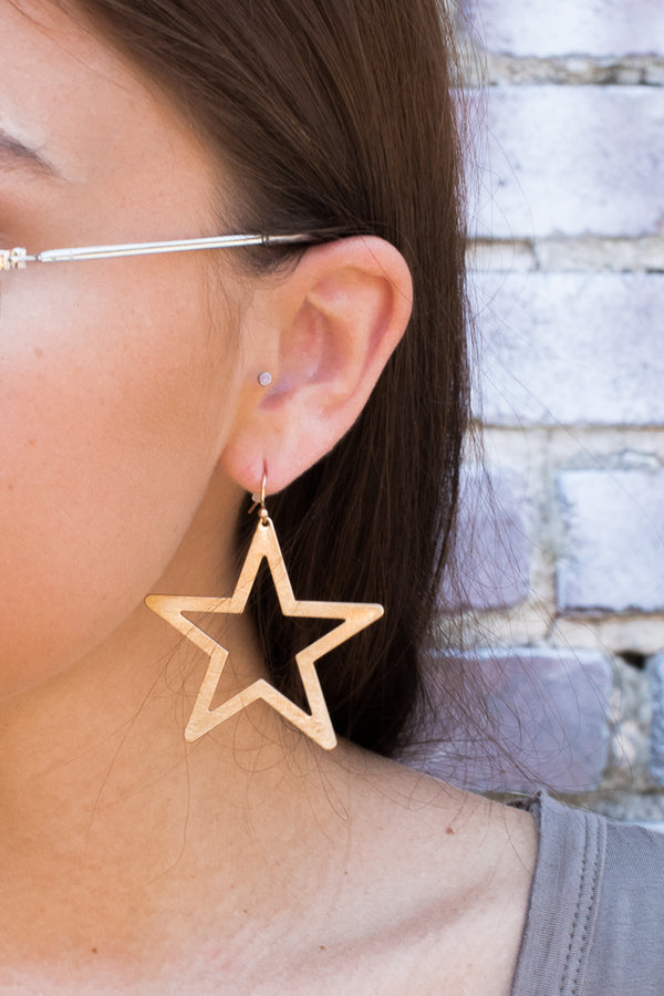 OS / Gold Shining Star Earrings - FINAL SALE - Madison + Mallory