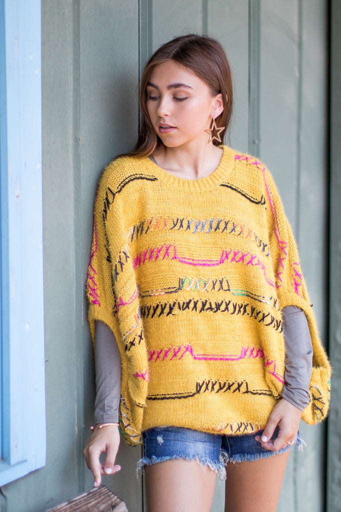 SM / Mustard First to Know Sweater - Madison + Mallory