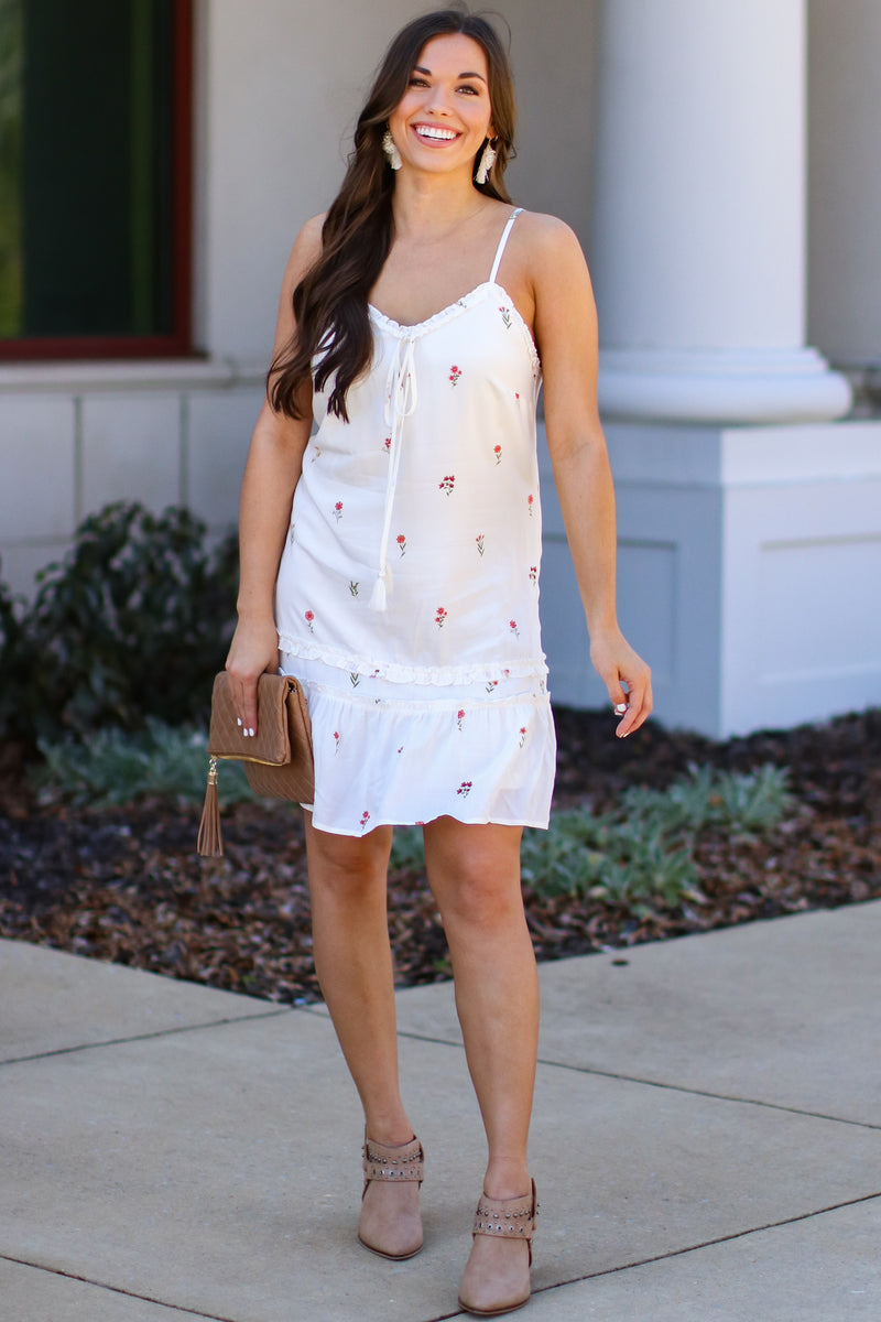 Take Me There Floral Ruffle Dress - Madison and Mallory