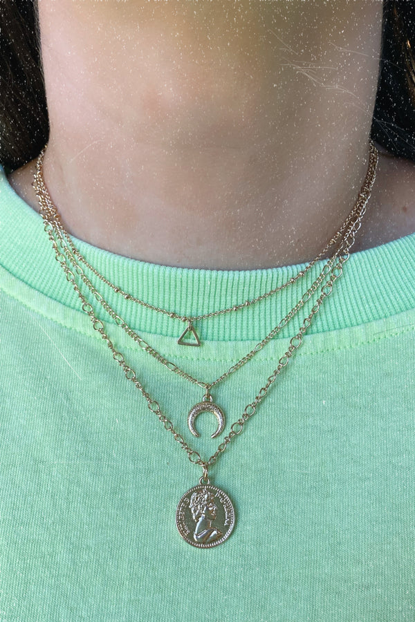 Go with the Flow Layered Coin Necklace - Madison and Mallory