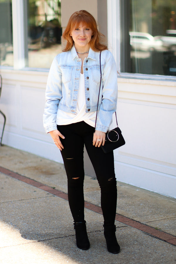 Gotta Be Done Distressed Denim Jacket - Madison + Mallory
