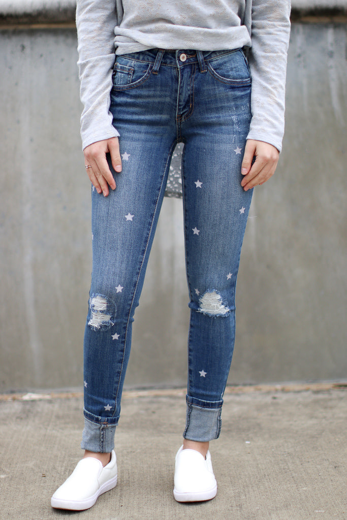 Shoot for the Stars Jeans - Madison + Mallory
