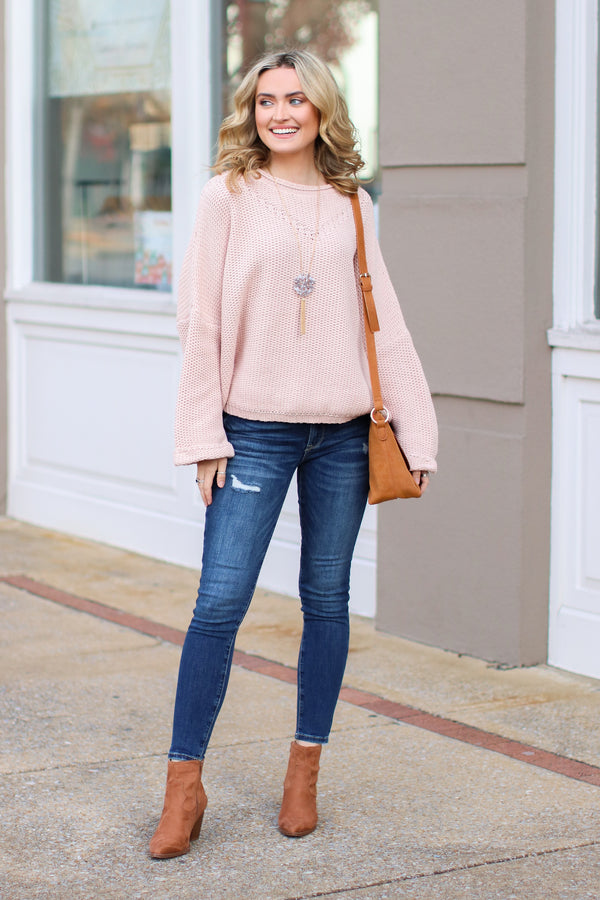 Hodges Bell Sleeve Knit Sweater - FINAL SALE - Madison and Mallory