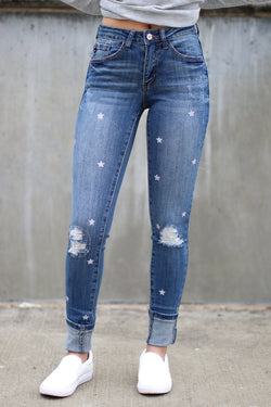 23 / Medium Shoot for the Stars Jeans - Madison + Mallory