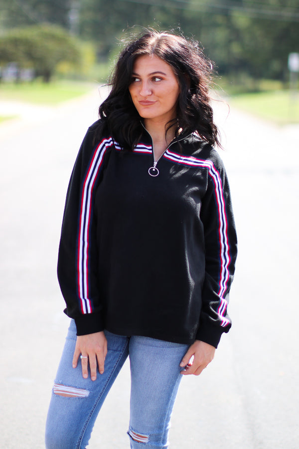 S / Black Going the Distance Sweatshirt - Madison + Mallory