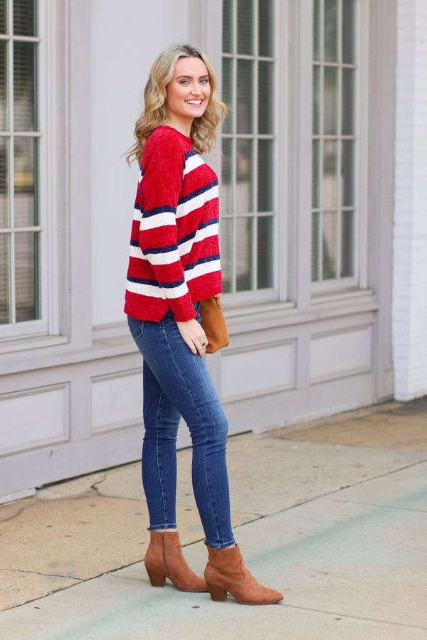 Talley Chenille Striped Sweater - FINAL SALE - Madison and Mallory