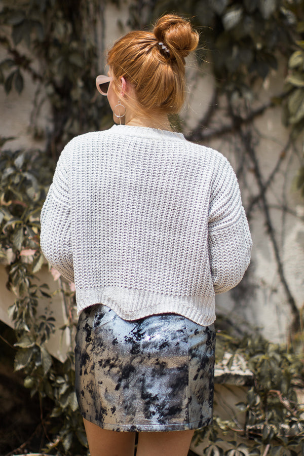 What If Knit Scalloped Sweater - Madison + Mallory