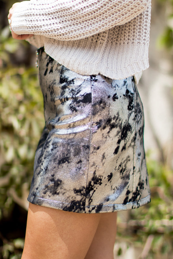 Metallic Detail Skirt - Madison + Mallory