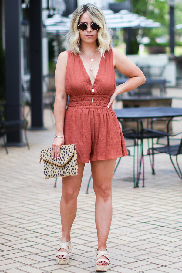 Kelby Surplice Front Romper - FINAL SALE - Madison and Mallory
