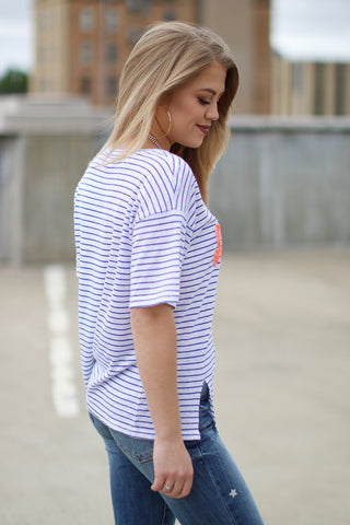 Snobs Striped Top
