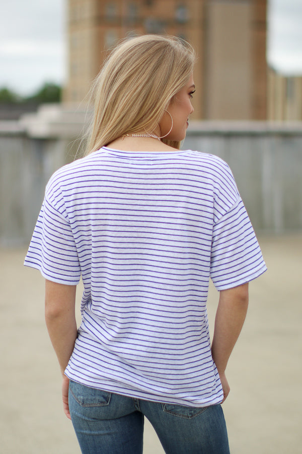 Snobs Striped Top - Madison + Mallory