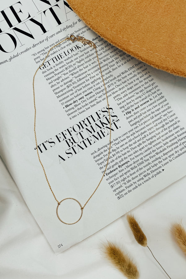 Beautiful Things Circle Necklace - Madison and Mallory