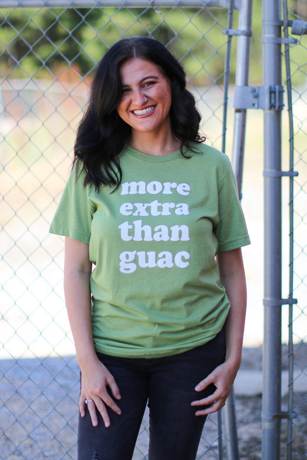 S / Green More Extra Than Guac Tee | CURVE - Madison + Mallory