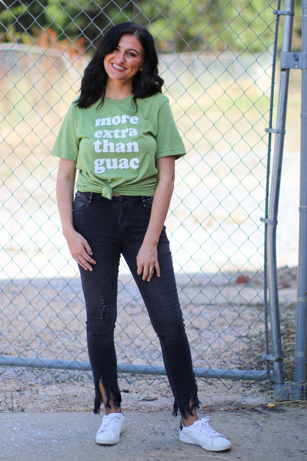 More Extra Than Guac Tee | CURVE - Madison + Mallory