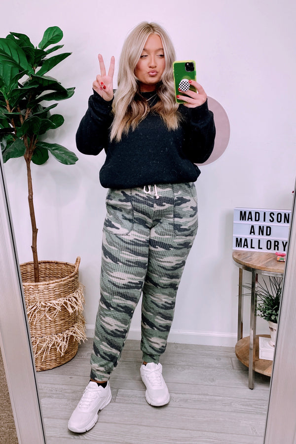 Alone Together Camo Joggers - Madison and Mallory