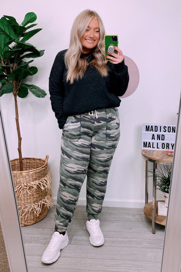 Alone Together Camo Joggers - FINAL SALE - Madison and Mallory