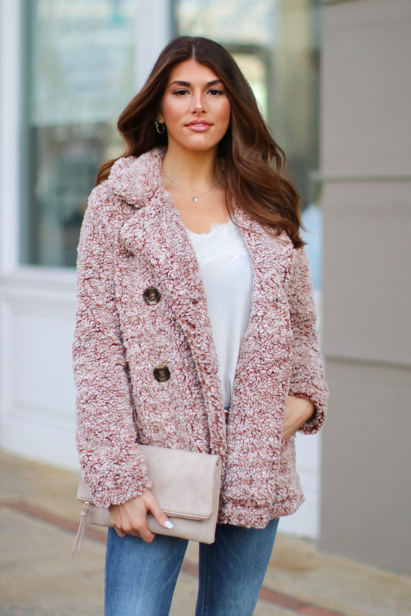 Viera Faux Fur Teddy Jacket - FINAL SALE - Madison and Mallory