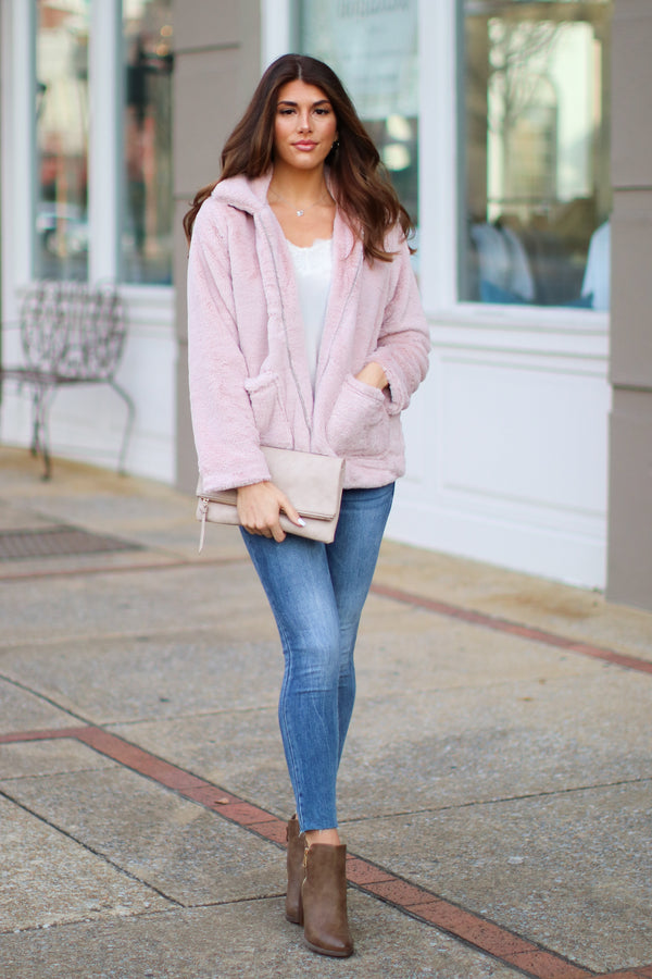 Cozy Crush Faux Fur Jacket - Madison and Mallory