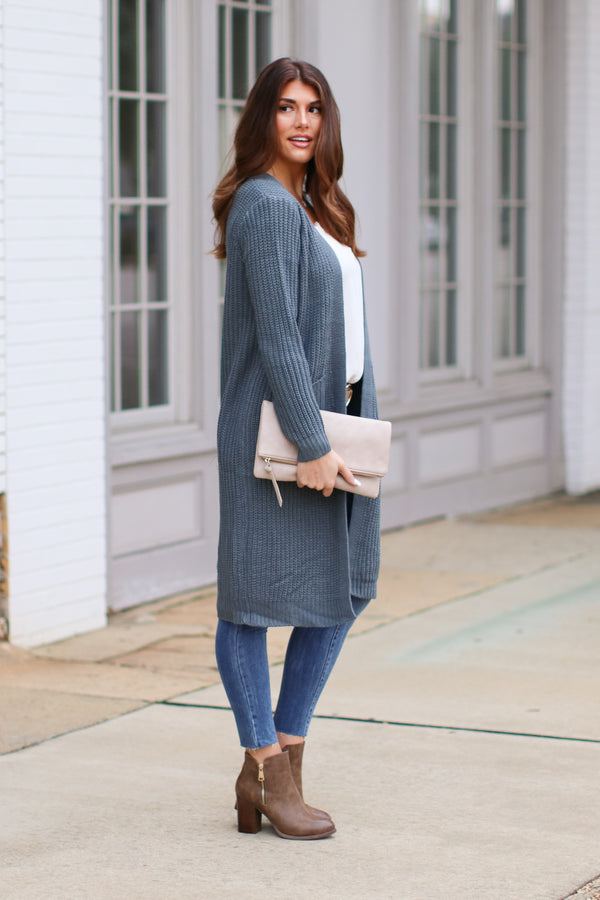 S / Peach Pink Scovia Cozy Cardigan - Madison + Mallory