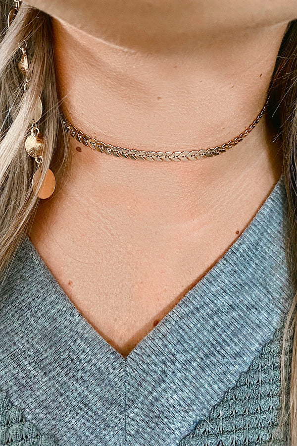 Gold Discover Love Choker Necklace - Madison and Mallory