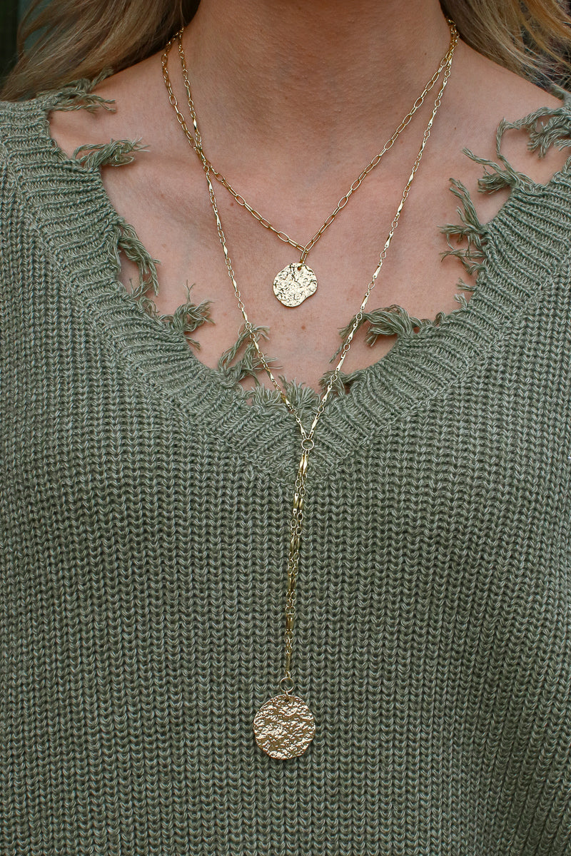Gold Decadence Layered Coin Necklace - Madison + Mallory