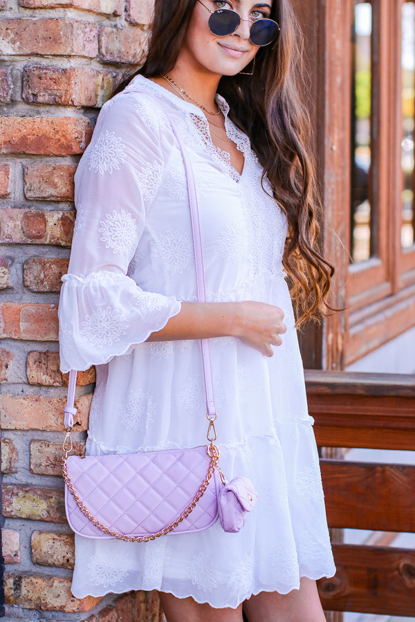 Perfect Details Quilted Chain Accent Crossbody Bag - Madison and Mallory