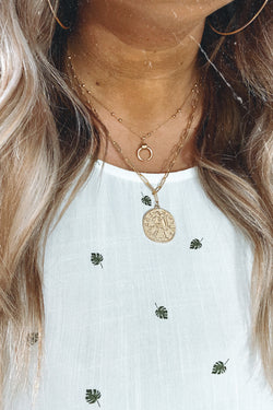Gold Carlisle Layered Coin Necklace - Madison and Mallory