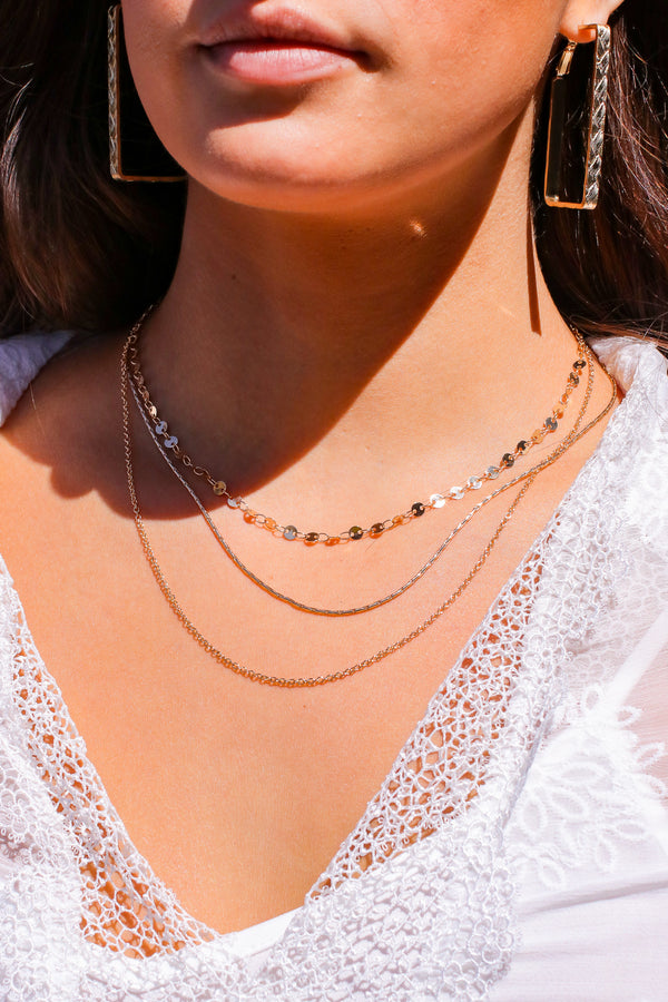 Gold Style Celebrations Layered Disk Necklace - Madison and Mallory