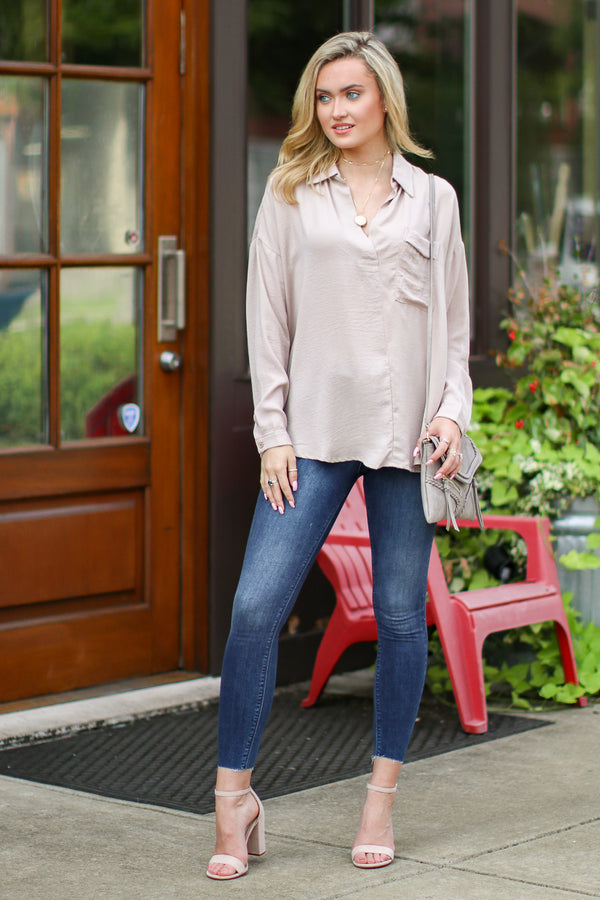 Tainted Love Flowy Pocket Top - Madison + Mallory