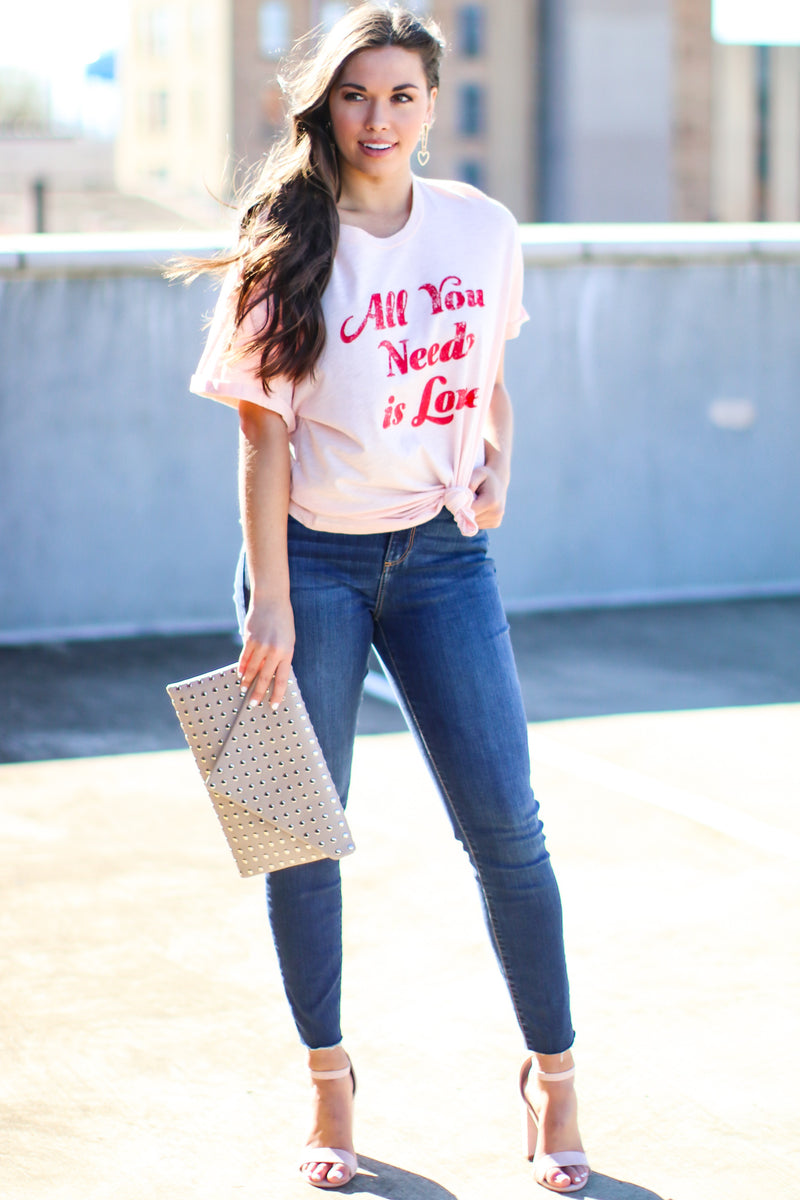 All You Need is Love Graphic Top - FINAL SALE - Madison and Mallory