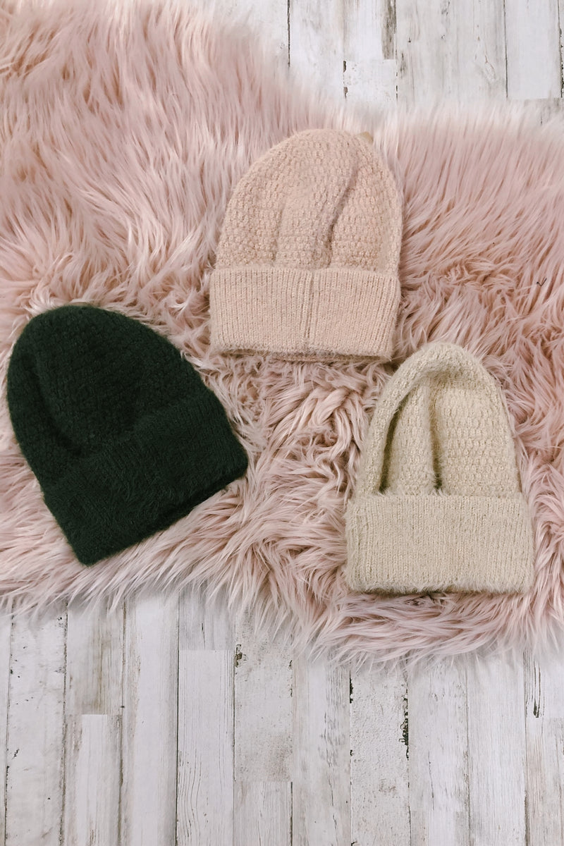 On the Slopes Fuzzy Ribbed Knit Beanie | Doorbuster - Madison and Mallory