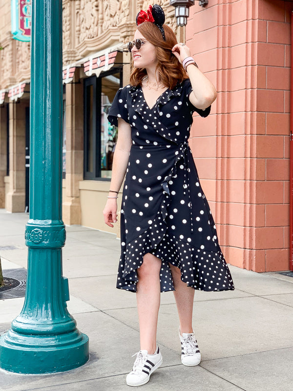 Ruffles at the Ready Polka Dot Dress - Madison + Mallory