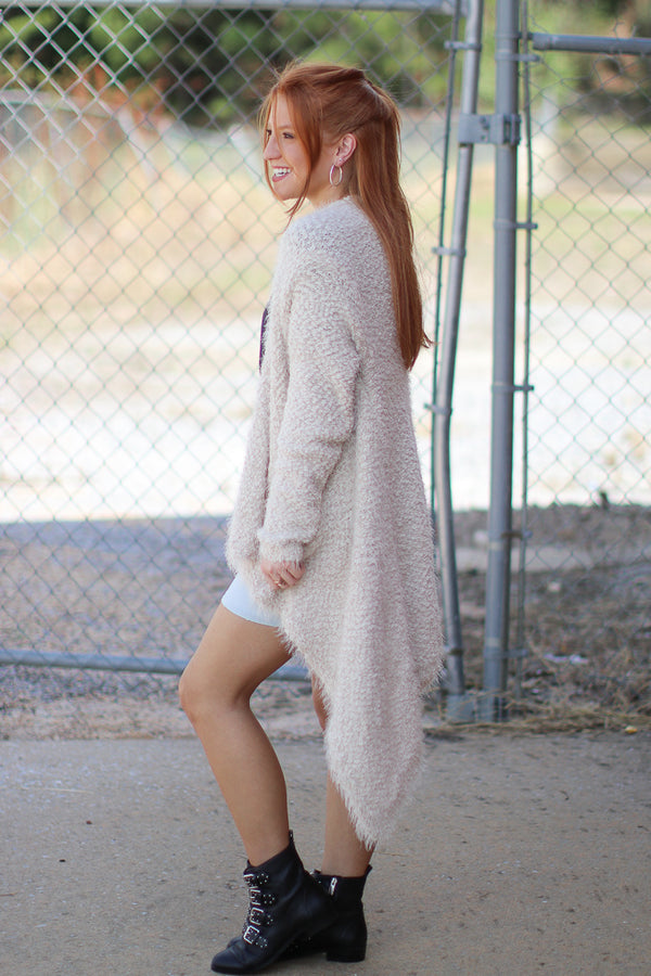 Cadence Fuzzy Knit Cardigan - Madison + Mallory