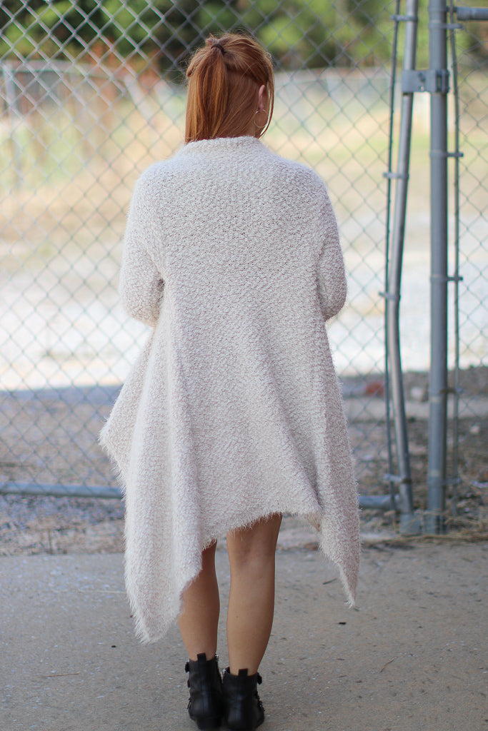 Cadence Fuzzy Knit Cardigan | CURVE - Madison + Mallory