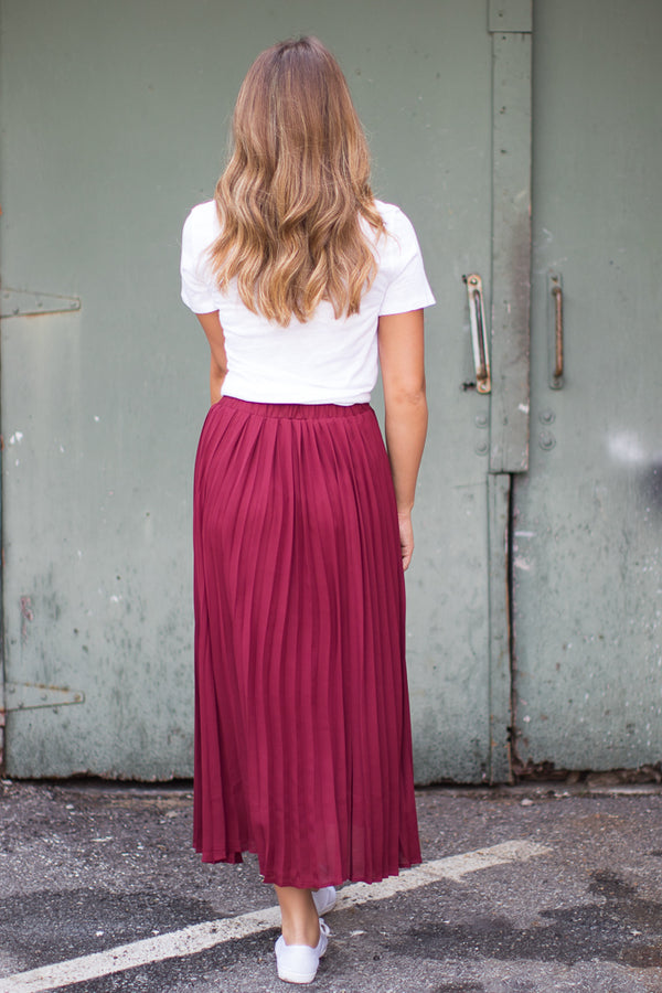 Pretty in Pleats Skirt - Madison + Mallory