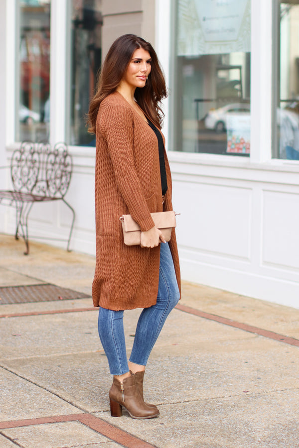 *DOORBUSTER* Chrisley Ribbed Knit Cardigan - Mocha - Madison + Mallory
