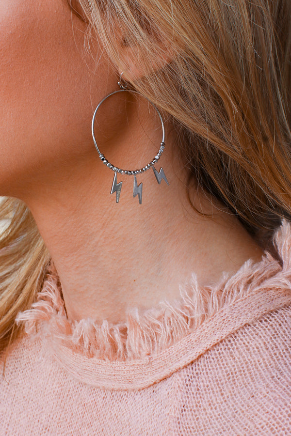Silver Fade Into You Lightning Bolt Earrings + MORE COLORS - Madison + Mallory