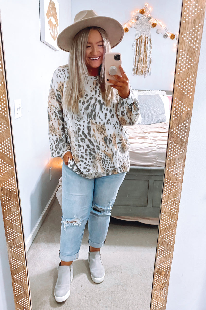 On the Scene Animal Mix Print Top - FINAL SALE - Madison and Mallory